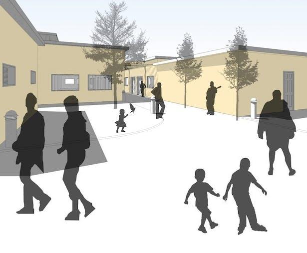 Pathways through the Community Buildings