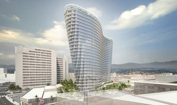 Studio Gang's first LA project will be a wavy high-rise in Chinatown
