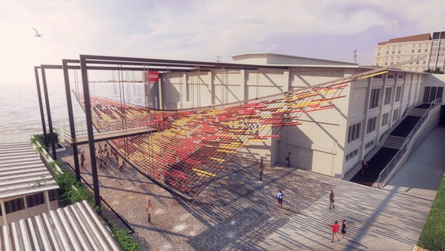 Bird's eye view of Tearing The Ground (Image: ONZ Architects)