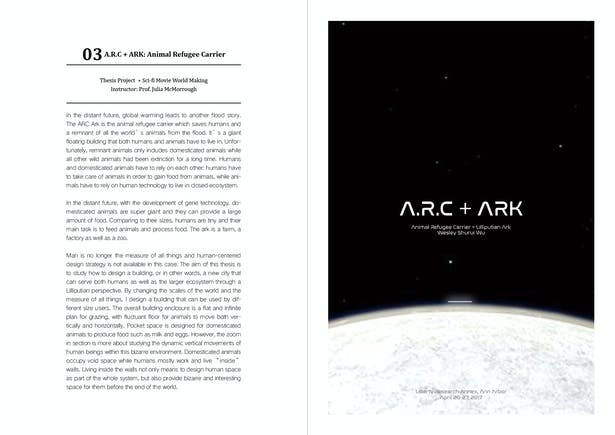 A R C + ARK: Animal Refugee Carrier   Shurui Wu   Archinect