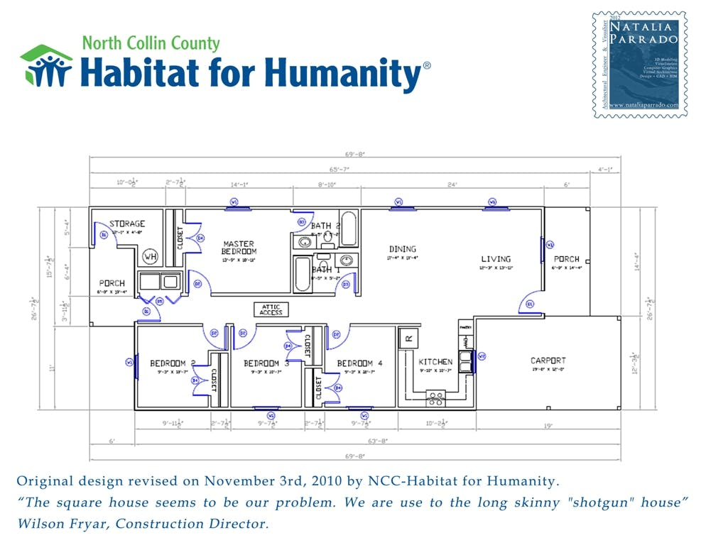 House Design volunteering in Habitat for Humanity | Natalia Parrado ...
