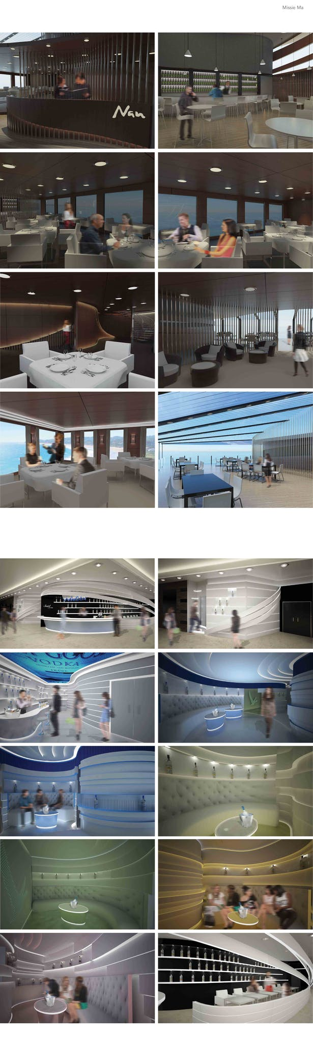 Restaurant Project + Lounge Project Renderings