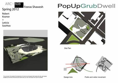 This is the first project i did in my master degree in architecture that im enrol in now ( PopUpGrubDwell )