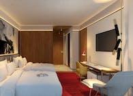 TWA Hotel model room
