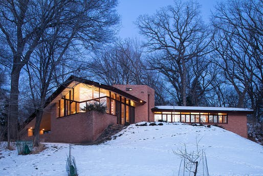 The Olfelt House by Frank Lloyd Wright is now for sale. Photo: Berg Larsen Group.