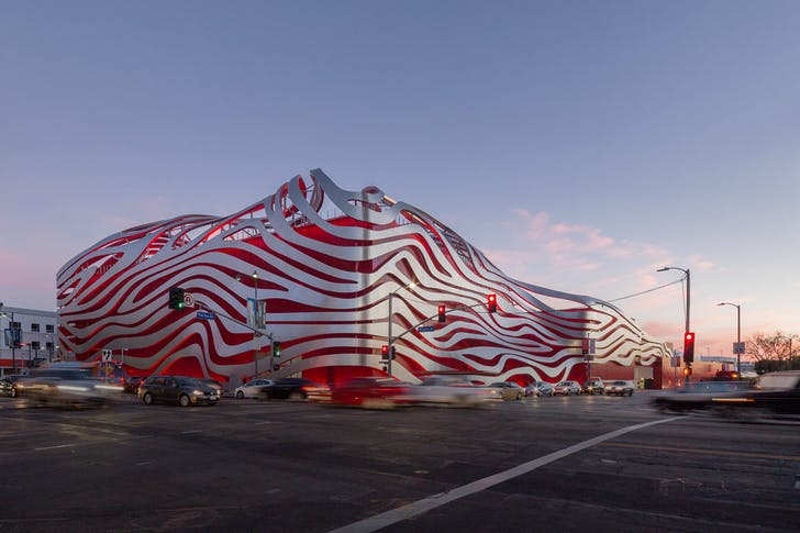 The Peterson Automotive Museum in Los Angeles. Image courtesy of Bill Zahner.