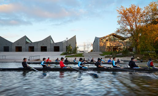 WMS Boathouse at Clark Park by Studio Gang. Photo: Steve Hall © Hedrich Blessing.