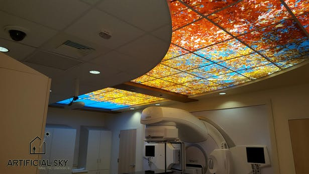 Dental Office Ceiling Art Amp Led Skylights Artificial Sky Archinect