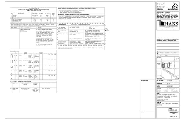 Energy Code Compliance Reference Drawing