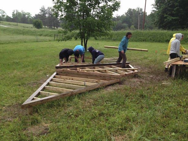 Building up the platform.