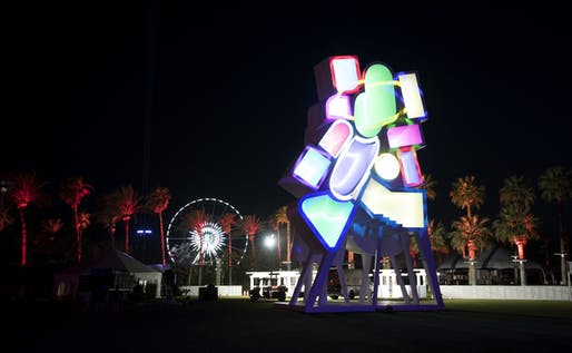 Jimenez Lai's 'Tower of Twelve Stories' at Coachella. Image courtesy Goldenvoice