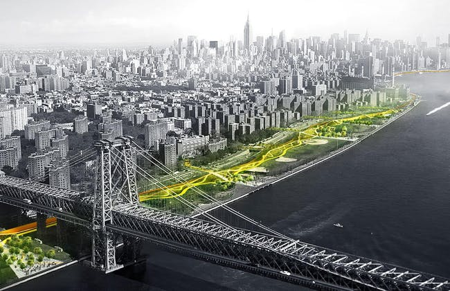 Global Holcim Awards Bronze 2015: The Dryline: Urban flood protection infrastructure | New York City, USA By Bjarke Ingels and Kai-Uwe Bergmann, BIG – Bjarke Ingels Group (Denmark/USA), One Architecture (Amsterdam) and team.