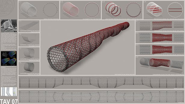 the nanotube shaped structure
