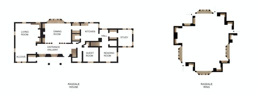 Plan Comparison of the Ragdale House and the Ragdale Ring. Image courtesy of Kwong Von Glinow Design Office.