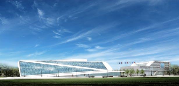 Exhibition Center / Ding Shu General Airport, Yixing Dushu, China / Cordogan Clark & Associates with Hanson