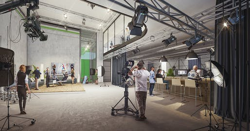 Production studio. Image © Flying Architecture.