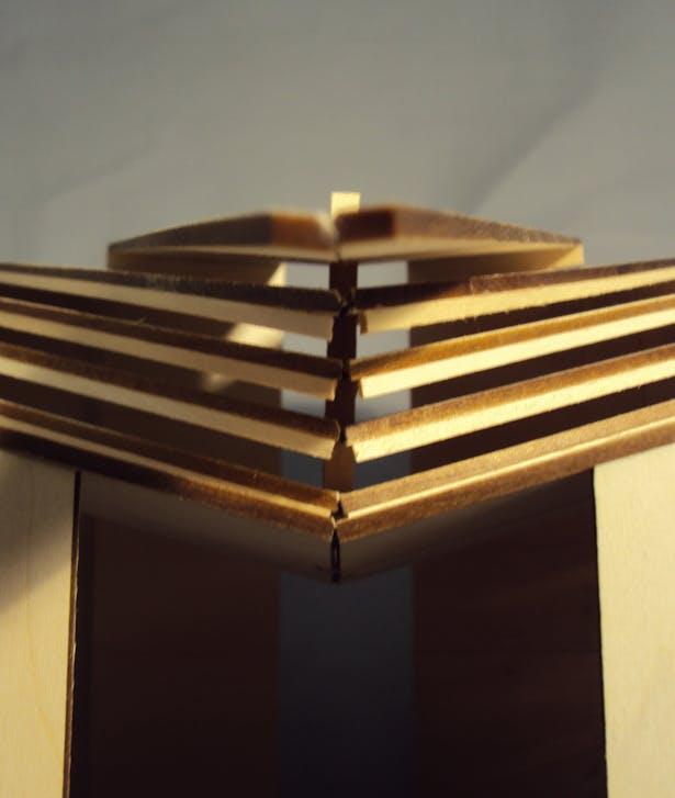 model view, chapel entrance