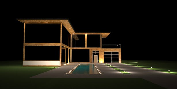 Cyber Staged House Front