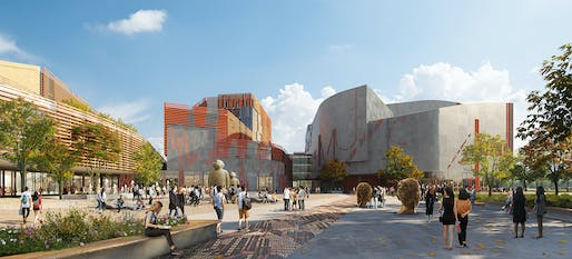 Rendering of the future Shenzhen Conservatory of Music. Render: Fancy, all images courtesy of Miralles Tagliabue EMBT.