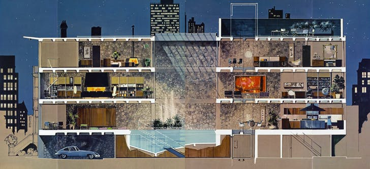 Playboy Town House, May 1962. Image courtesy of Elmhurst Art Museum.
