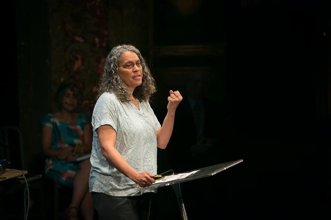 Mindy Thompson Fullilove at PopTech City Resilient conference (2013). Image via flickr/PopTech.