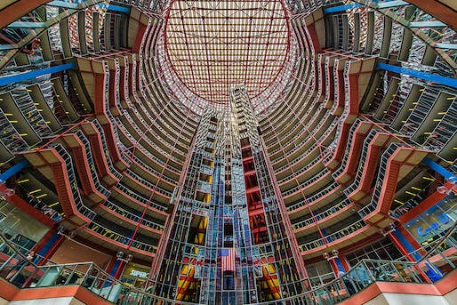 The Helmut Jahn-designed 1980s State of Illinois Center/James R. Thompson Center is facing demolition. The latest Chicago Prize competition calls for ideas to preserve the endangered building (details below). Photo: Mobilus In Mobili/Flickr (CC BY 2.0)