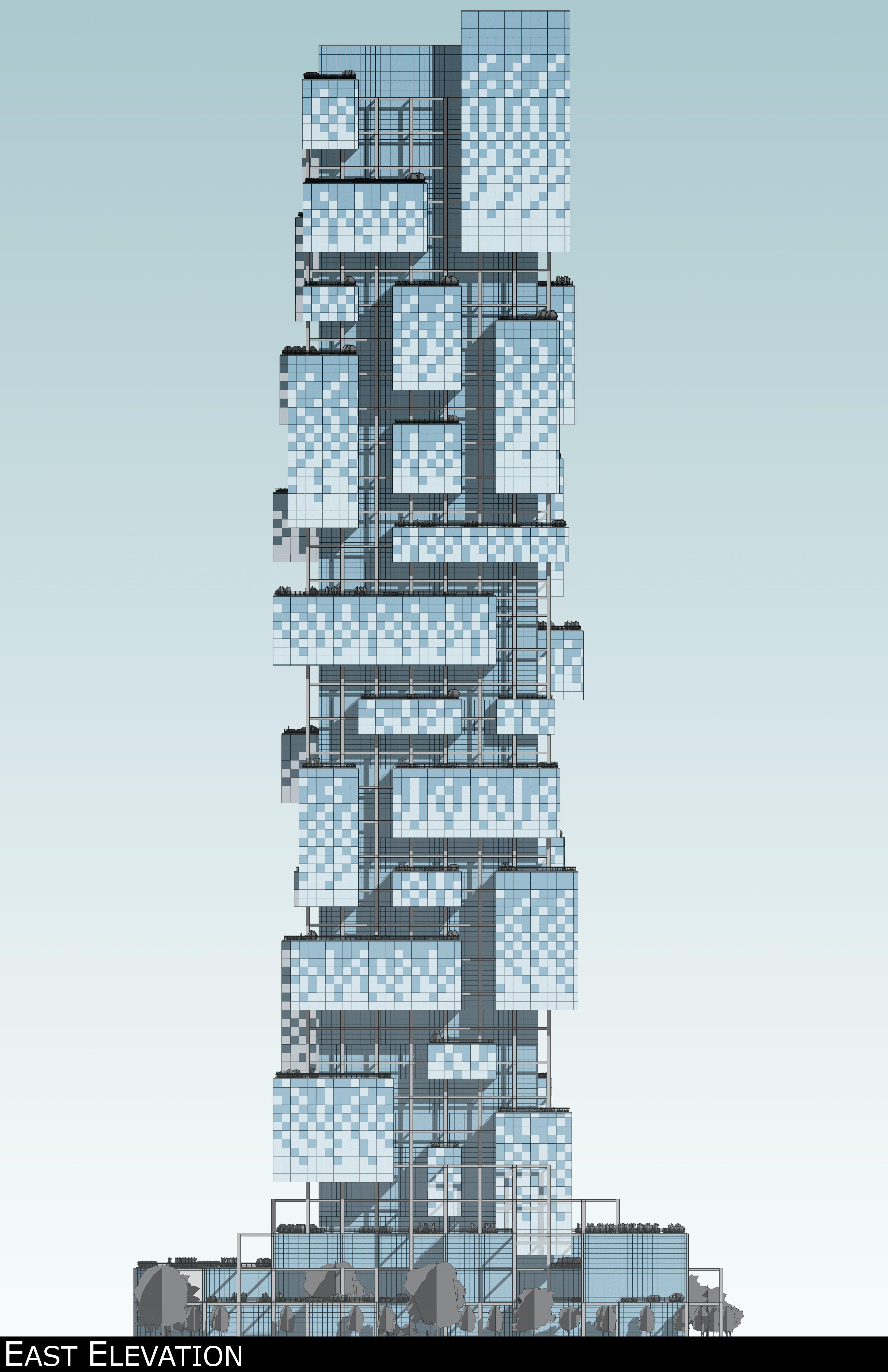 Homefront Tower Elevation : Philadelphia skyscraper brian johnson archinect