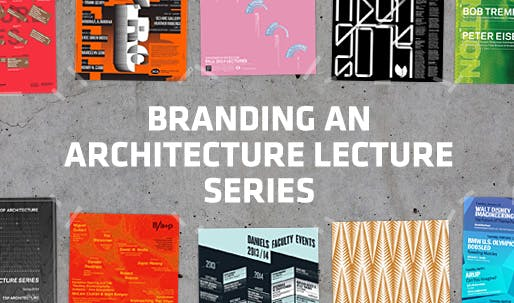 branding an architecture lecture series how does the poster get
