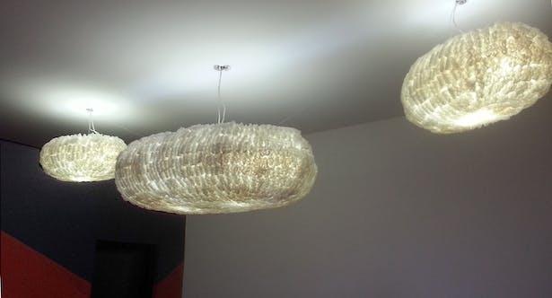 Custom Cloud Lamp for reception