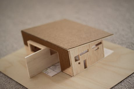 House H - 1:100 scale study model