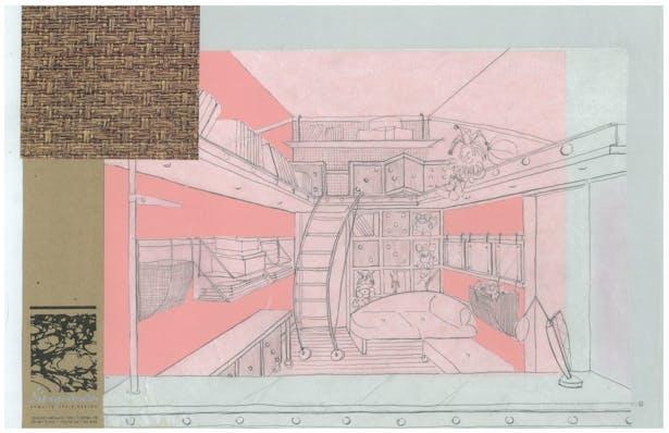 Twins' Playroom   Interior Hand-Sketch
