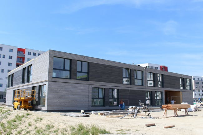 Mobile student dorm that meets the Passive House Standard (photo by Passive House Institute)