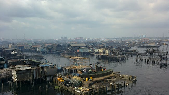 2014 Buckminster Fuller Challenge finalist - Makoko Iwaya Waterfront Regeneration Plan. Photo courtesy of the 2014 Buckminster Fuller Challenge.
