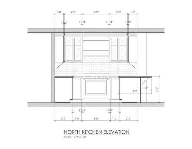 Kitchen - North Elevation