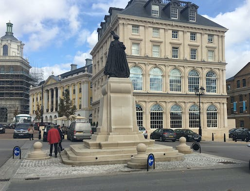 Image: Queen Mother Square, Poundbury. Photograph: Francis Terry