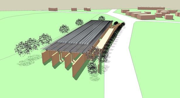 Renzo Piano - Beyeler foundation (Autocad and SketchUp)