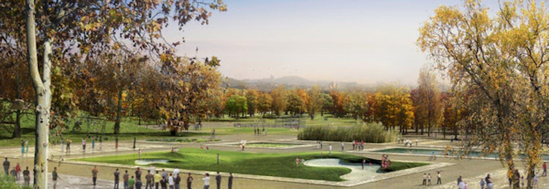 Yongsan park master plan by west 8 iroje for West 8 landscape architecture