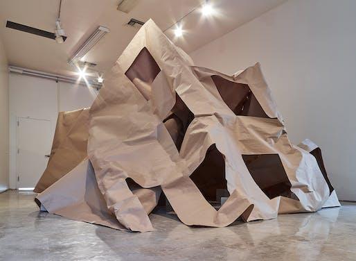 David Eskenazi of d.esk: Slump Model, Wedge Gallery, Los Angeles, 2019. Image courtesy d.esk.
