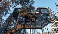 """Is Snøhetta's """"7th room"""" 2017's coolest (literally and figuratively) treehouse?"""
