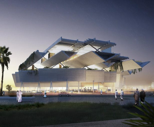 Qatar Courthouse. Render by Poliedro Architectural Visualizations http://www.poliedroestudio.com/