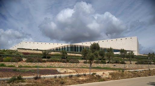 Main view of the Palestinian Museum, Birzeit, Palestine. Photo © Aga Khan Trust for Culture / Cemal Emden.