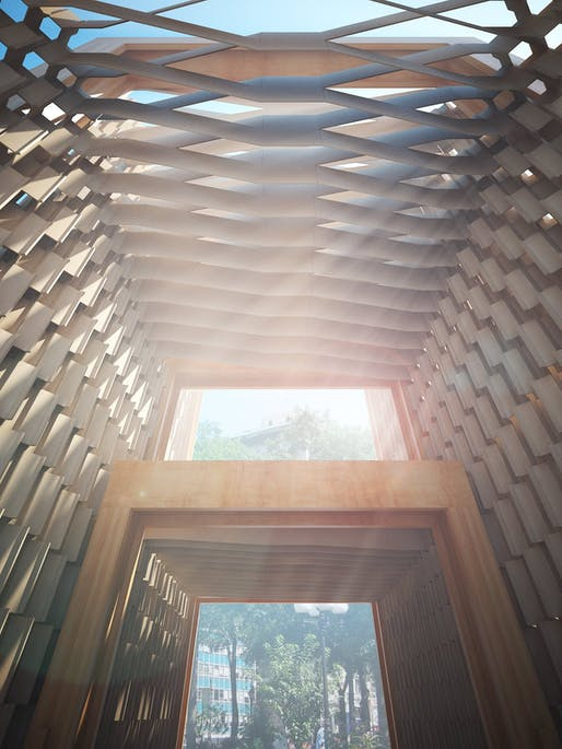 """Transukkah"", a Sukkah City competition entry by H Architecture. Image: H Architecture."