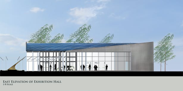 East Elevation of Exhibition Hall