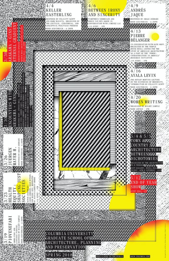 Poster design: Out of Office (Mark Pernice + Elana Schlenker).