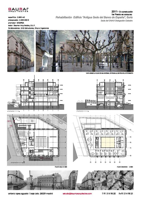 Refurbishment of Banco de España Building for Tax Offices and Photography Museum, Soria