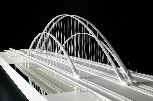 The original proposal from Calatrava's I-30 Margaret McDermott Bridge has been axed.