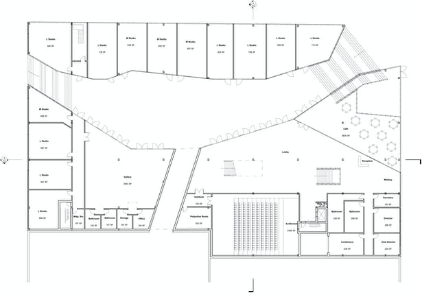 Courtyard Level Plan