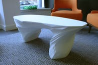 White Drift Coffee Table