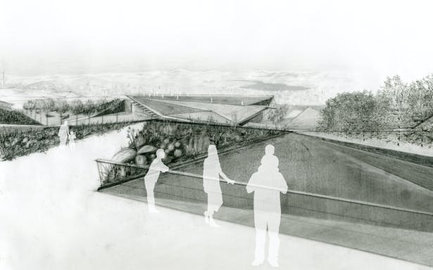 Primary viewpoint and horticultural hall exterior perspective