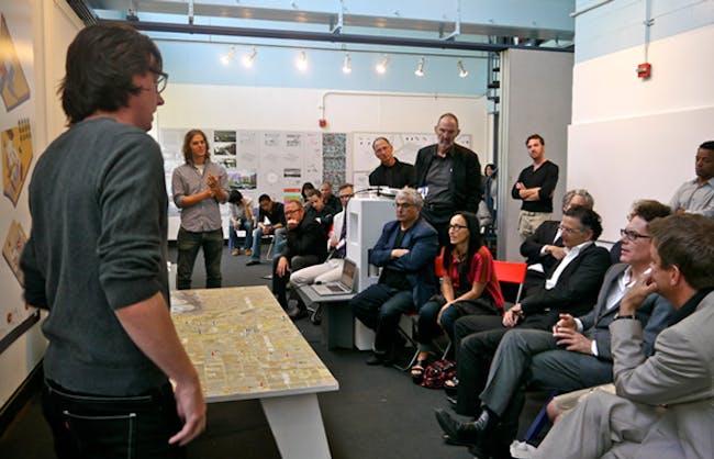 RUMBLE installation 2012, instructor Thom Mayne with Eui Sung-Yi